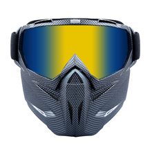 Goggles Detachable-Mask Airsoft Tactical Riding-Mask Shooting Motorcycle Bike Windproof