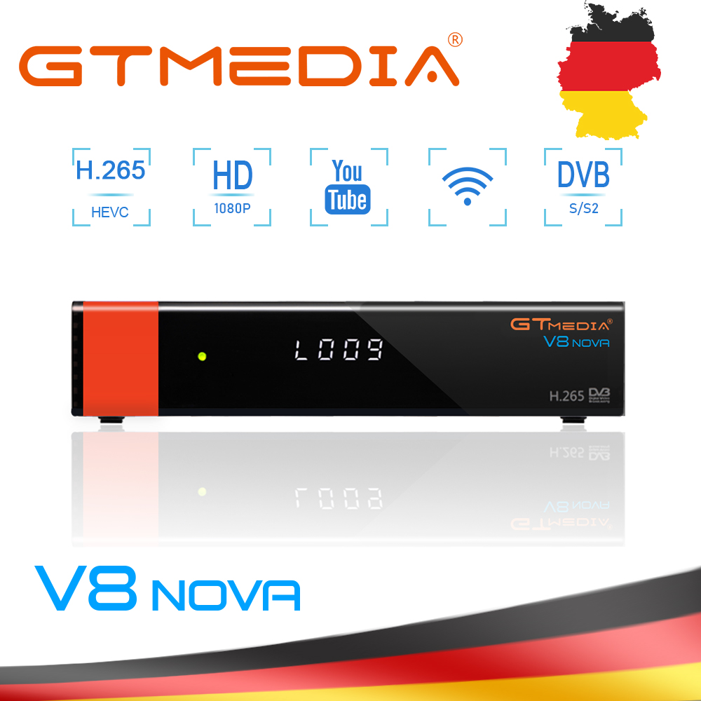 GTMEDIA V8 NOVA DVB-S2 Satellite TV Receiver WIFI Support H.265+1 Year Spain Italy FranceCccam 5 Cline Same As V9 SUPER Device