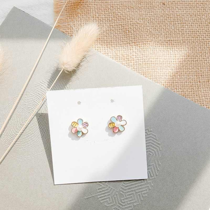 Coreano Nuovo Semplice Arcobaleno della vite prigioniera Orecchini Delle Signore di Personalità Carino Piccoli Orecchini per Le Donne Accessori Gioelleria raffinata e alla moda All'ingrosso