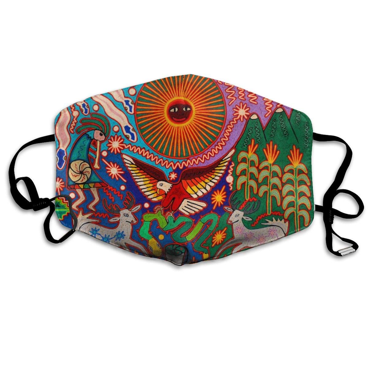 NiYoung Breathable Anti Dust Mouth Mask With Adjustable Earloop, Warm Windproof Reusable Washable Half Face Mask, Oaxaca Mexico