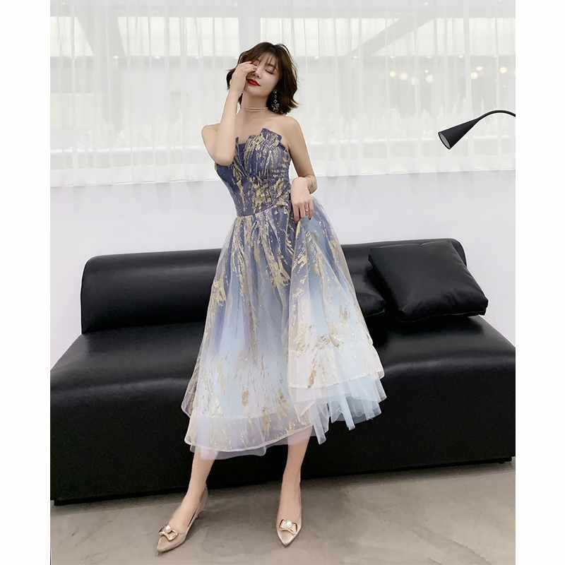 2019 Direct Selling Promotion Little Girl's Evening Dress, 18-year-old Very Fairy Wedding Ceremony, Student Banquet Host, Dress