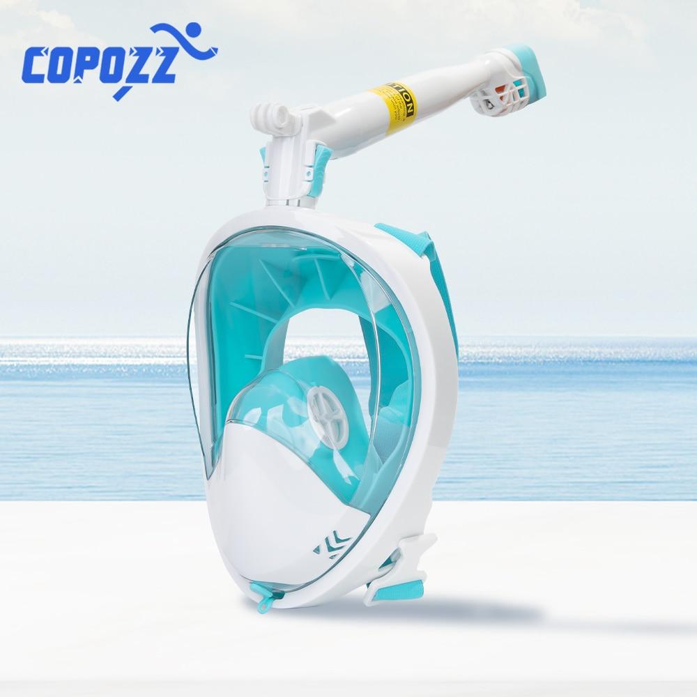 Anti-fog Snorkel Mask Scuba Underwater Diving Mask 360 Degree Rotate Full Face Swimming Snorkeling Masks 180 View Anti-Leak(China)