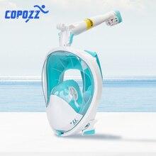 Anti-fog Snorkel Mask Scuba Underwater Diving Mask 360 Degree Rotate Full Face Swimming Snorkeling Masks 180 View Anti-Leak