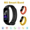 Часы M5 Smarth, спортивный фитнес-трекер, шагомер, пульсометр, монитор артериального давления, Bluetooth, M5, смарт-браслет для мужчин и женщин
