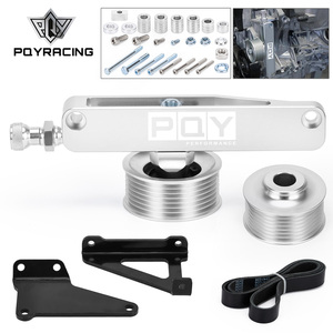 PQY - A/C & P/S Eliminator Delete Pulley Kit For Honda Acura K20 K24 Engines CPY03S-QY