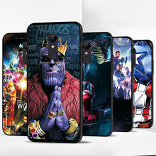 Thanos Iron Man Case For Xiaomi Redmi 5A 8A 7A Redmi 6A Case on Black TPU Phone Case For Xiaomi Redmi 6 6Pro 5 7 8 Cover Redmi 7 cheap adlucky Fitted Case The Avengers Iron Man Captain America Spiderman Deadpool Floral Marble Quotes Messages Animal Transparent