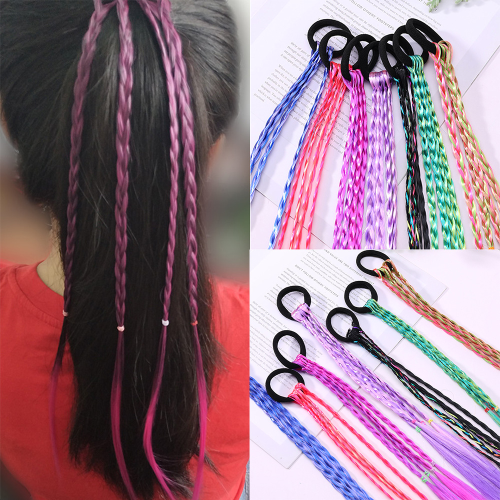 New Girls Elastic Hair Band Rubber Band Hair Accessories Wig