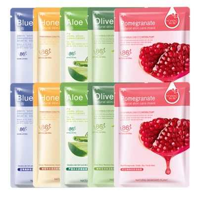 HanChan Aloe Vera Soothing Moisturizing และ Hydrating Facial Mask ผสม Plant Care หน้ากากเลือดหน้ากากสีส้ม Single Pack