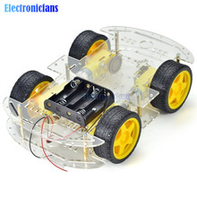 Diy Electronic Smart Car Kit 4WD Smart Robot Car Chassis Kits Car With Speed Enc