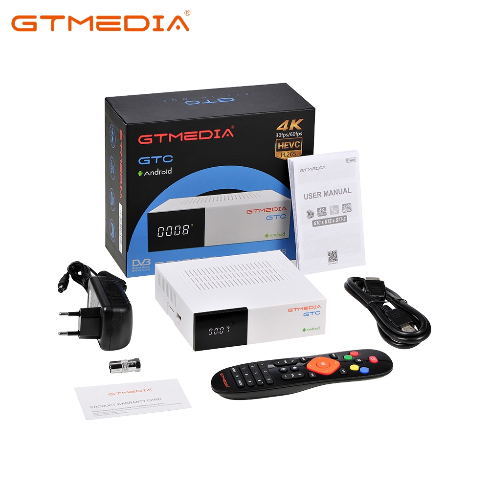 GTC 4K Smart TV Box Android 6,0 Android TV BOX 2GB 16GB Google Play Store Netflix Youtube 4K Android + DVB-S/S2 + T/T2/Kabel/ISDBT