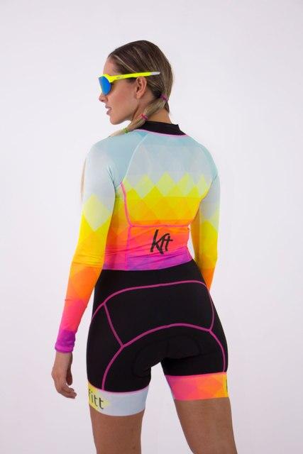 2020 ciclismo pro-kafitt terno triathlon sexy collants bicicleta moletom manga longa ciclismo terno mulher macaco terno 9d gel 4