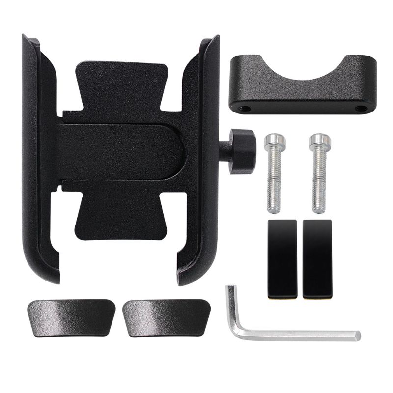Image 2 - 360 Degree Universal Metal Bike Motorcycle Motorbike Mirror Handlebar Smart Phone Holder Stand Mount For iPhone Xiaomi Samsung 4-in Phone Holders & Stands from Cellphones & Telecommunications on