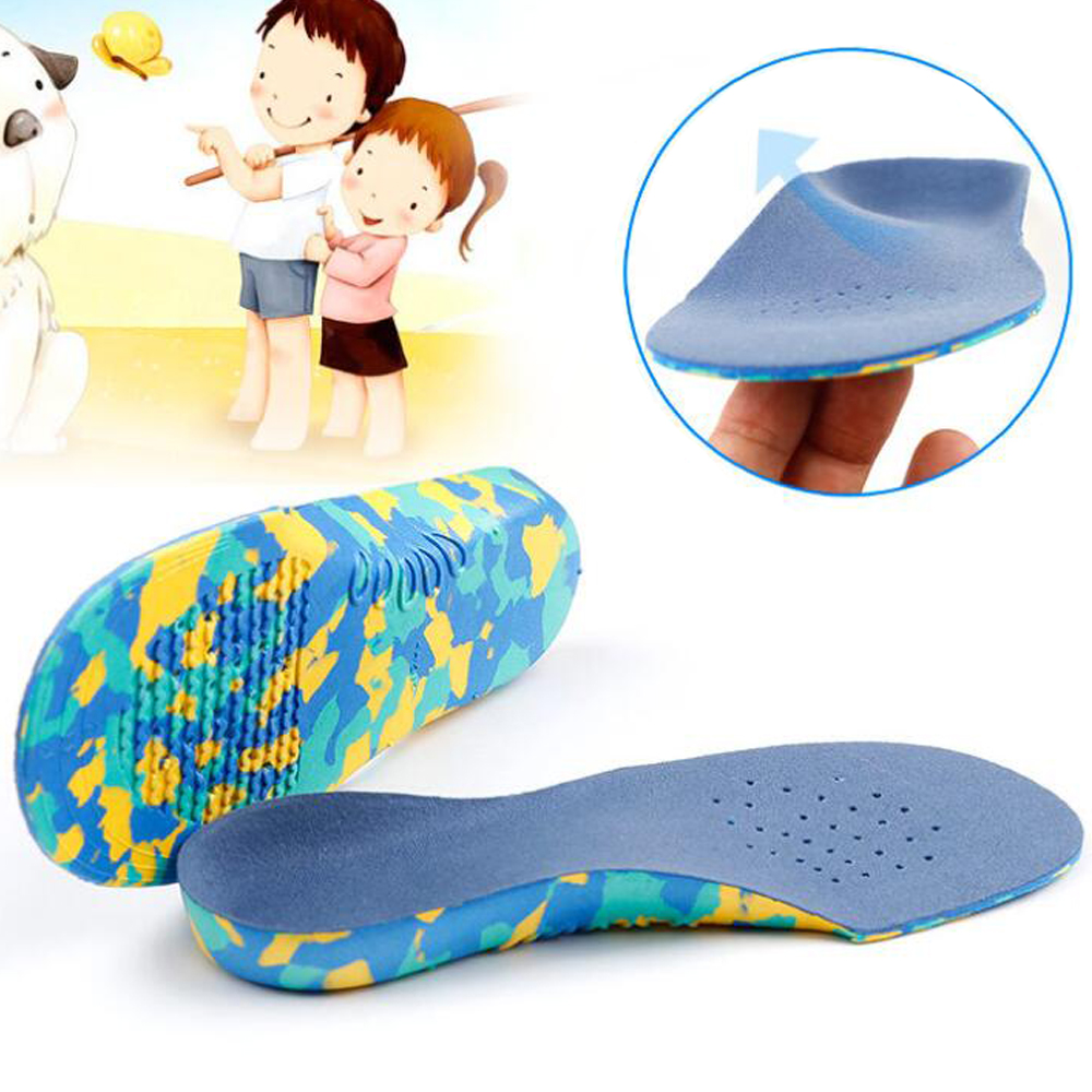 Ortoluckland Kids Orthopedic Insoles Arch Support Insoles Varus Valgus Flat Feet Orthotic Insoles Breathable Shoes Pads Foot Pad