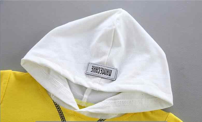 Baby boy kleidung neue jeans kleidung brief gedruckt mit kapuze pullover anzug baby jungen kleidung freizeit sport baby zwei-stück anzug