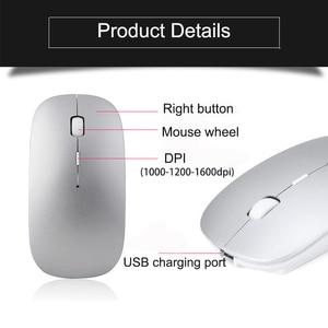 Image 2 - Bluetooth Draadloze Muis Computer Muis Stille 10M Mause Oplaadbare Ergonomische Muis 5.8Ghz Muizen Voor Laptop Pc Tablet Ipad