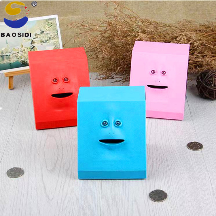 Face Sense Eating Money of The Piggy Bank Cute Facebank Piggy Bank Children's Toys