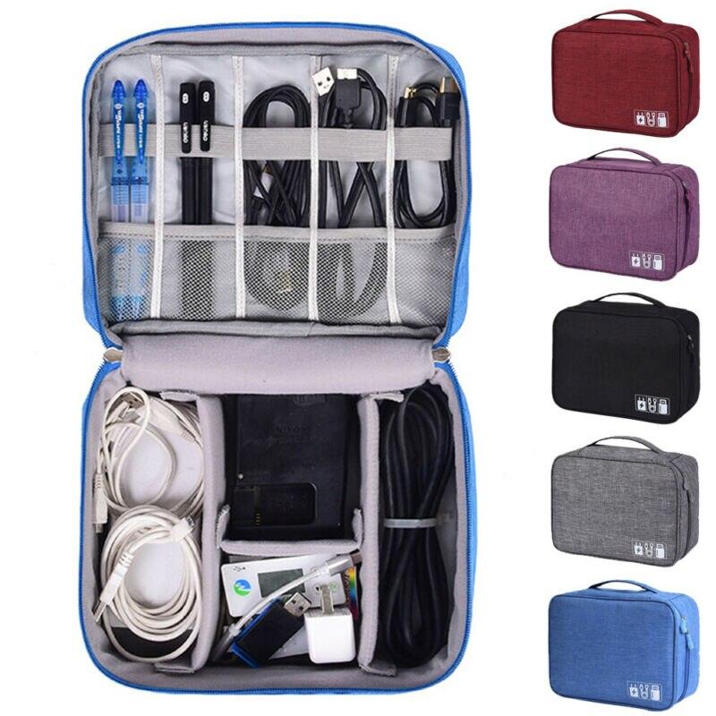 Multi-functional Organizer Electronic Storage Bag Data Line Storage Bag Digital Bag Travel Cable Bag Portable Digital USB Bag