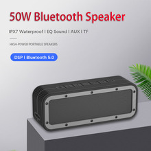 High Power 50W Bluetooth Speaker Bass Subwoofer Portable Wireless Column Stereo Music Playe Center With 6600mAh Battery Soundbox