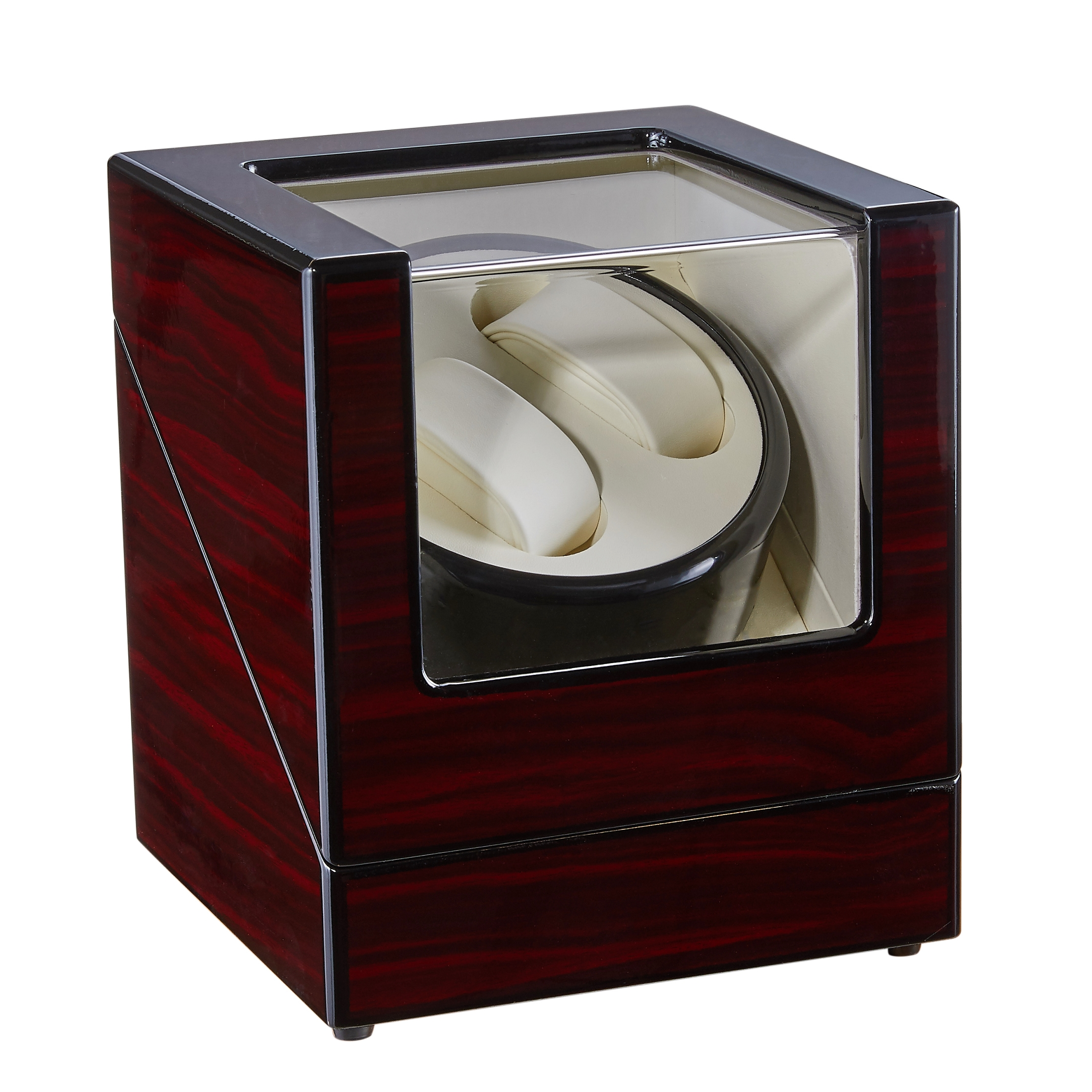 Red Automatic Watch Winder Box Case Holder Mechanical Watch Display Organizer Luxury Motor Shaker PU Leather EU/US/AU/UK Plug | Watch Winders