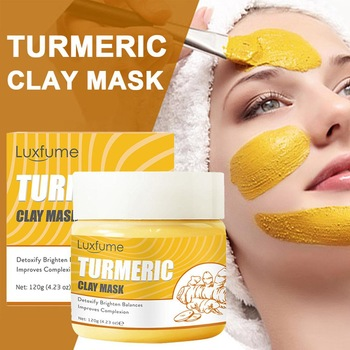 120g Turmeric Mud Mask Clay Paste Deep Cleaning Brightening Purifying Nourishing Turmeric Mud Turmeric Clay Mask Women Skin Care 1