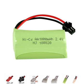 1800mah 2.4v Rechargeable Battery For Rc toy Car Tanks Trains Robot Boat Gun Nicd AA 700mah 2.4v Rechargeable Battery 1Pcs image