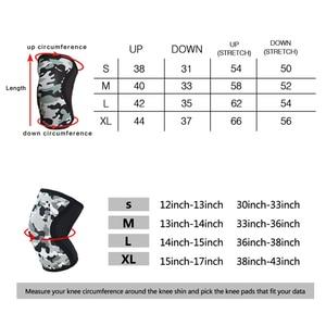 Image 3 - ROEGADYN Multi/bleu ciel 5mm genouillère pour haltérophilie Neoprenowa Fitness genouillère sport genouillères universelles pour les articulations