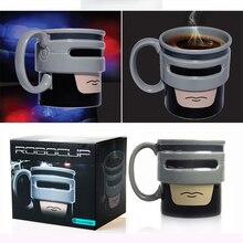 RoboCup אנימציה קריקטורה חלב תה כוס קרמיקה תווים X איש ספלי משרד בית Creative גיבור רובו אוהדי מתנות 16OZ