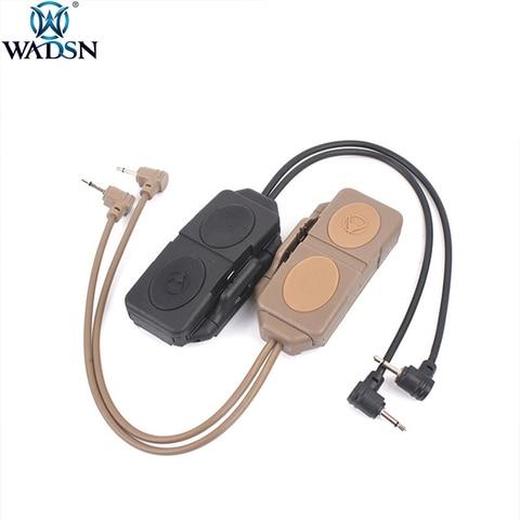 wadsn airsoft duplo interruptor de pressao controle remoto para dbal mkii peq 16a m3x wmx200