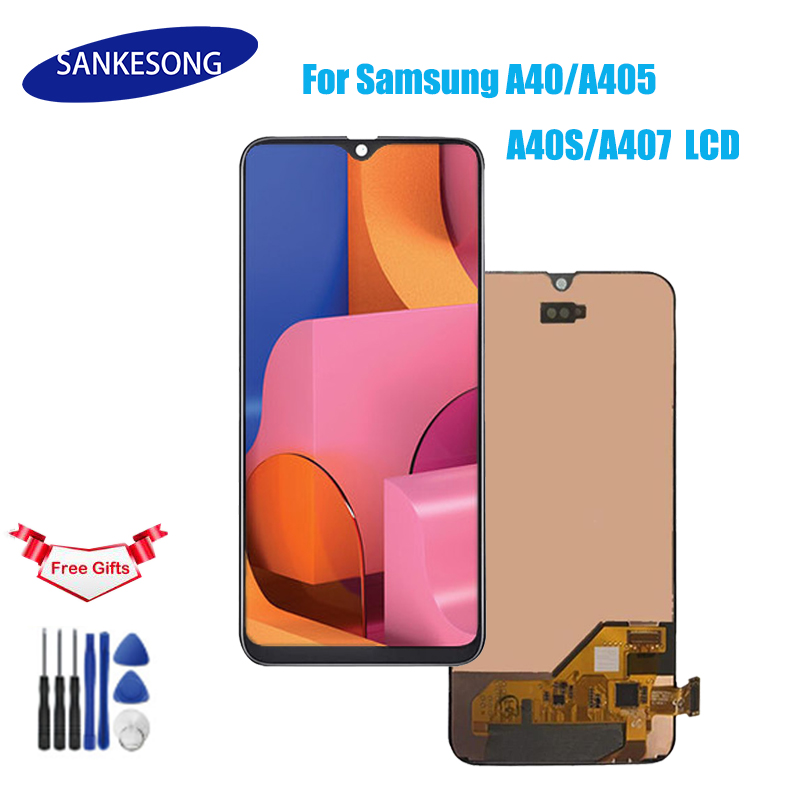 For Samsung A40 LCD A405 A40s A407 LCD Touch Screen Digitizer Assembly With Frame Screen Replacement Repair Parts