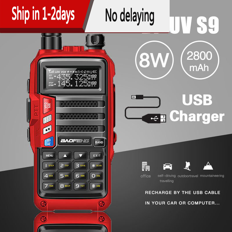2020 BaoFeng UV-S9 Powerful Walkie Talkie CB Radio Transceiver 8W 10km Long Range Portable Radio for hunt forest city upgrade 5r
