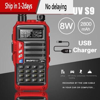 2020 BaoFeng UV-S9 potente Walkie Talkie CB Radio transceptor 8W 10km de largo alcance Radio portátil para la mejora de la ciudad del bosque de la caza 5r