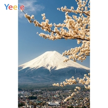 Yeele Mount Fuji Cherry Blossoms Natural Scenery Photography Backgrounds Custom Photographic Backdrop For Photo Studio Props цена