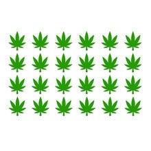 30 Pz/set Maple Leaf Adesivi Weed Invito Guarnizioni Decalcomanie Del Partito Tazza Sticker Vaso di Capo Del Partito Della Decorazione Smontabile Carta Da Parati 3684