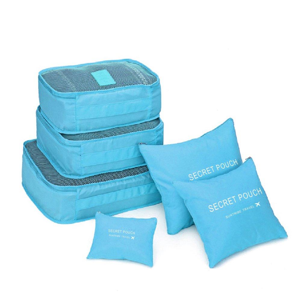 Местный запас 6 шт. водонепроницаемые дорожные сумки одежда чемодан Органайзер сумка Упаковка распродажа - Цвет: Синий