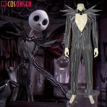 Джек Скеллингтон, косплей, Кошмар перед Рождеством, карнавальный костюм на Хэллоуин, необычный костюм в черную полоску, COSPLAYONSEN