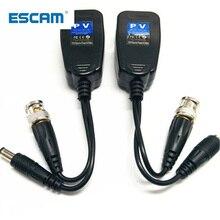 ESCAM 5 пар CCTV коаксиальный кабель BNC видео Мощность балун трансивер для CAT5e 6 RJ45 разъем HJ55