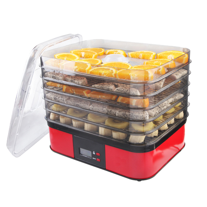 Frutas elétrico/Desidratador Vegetal 5 camadas Secador de Alimentos Pequeno Secador De Vegetais 250W Máquina Desidratador de Frutas