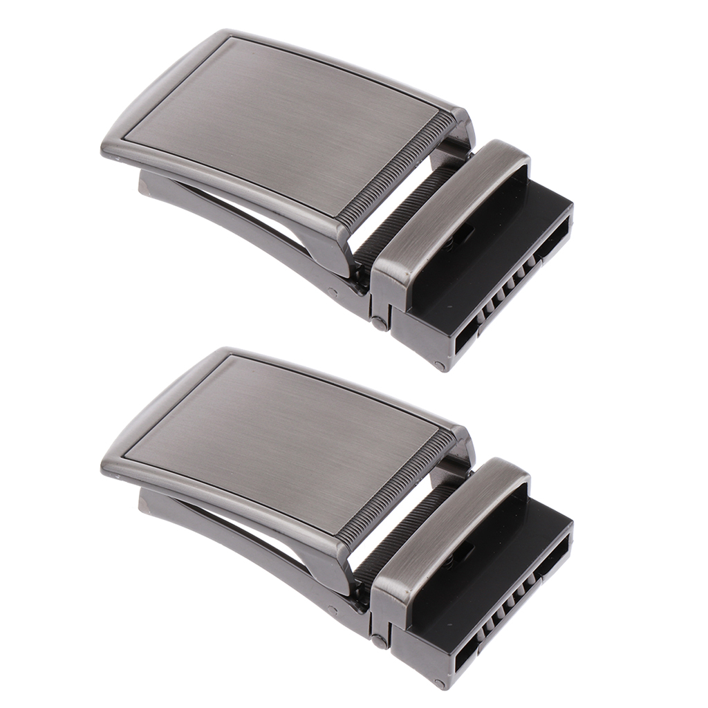 2 Pcs. Automatic Belt Buckle Metal Buckle Buckle For 3.5 Cm Straps