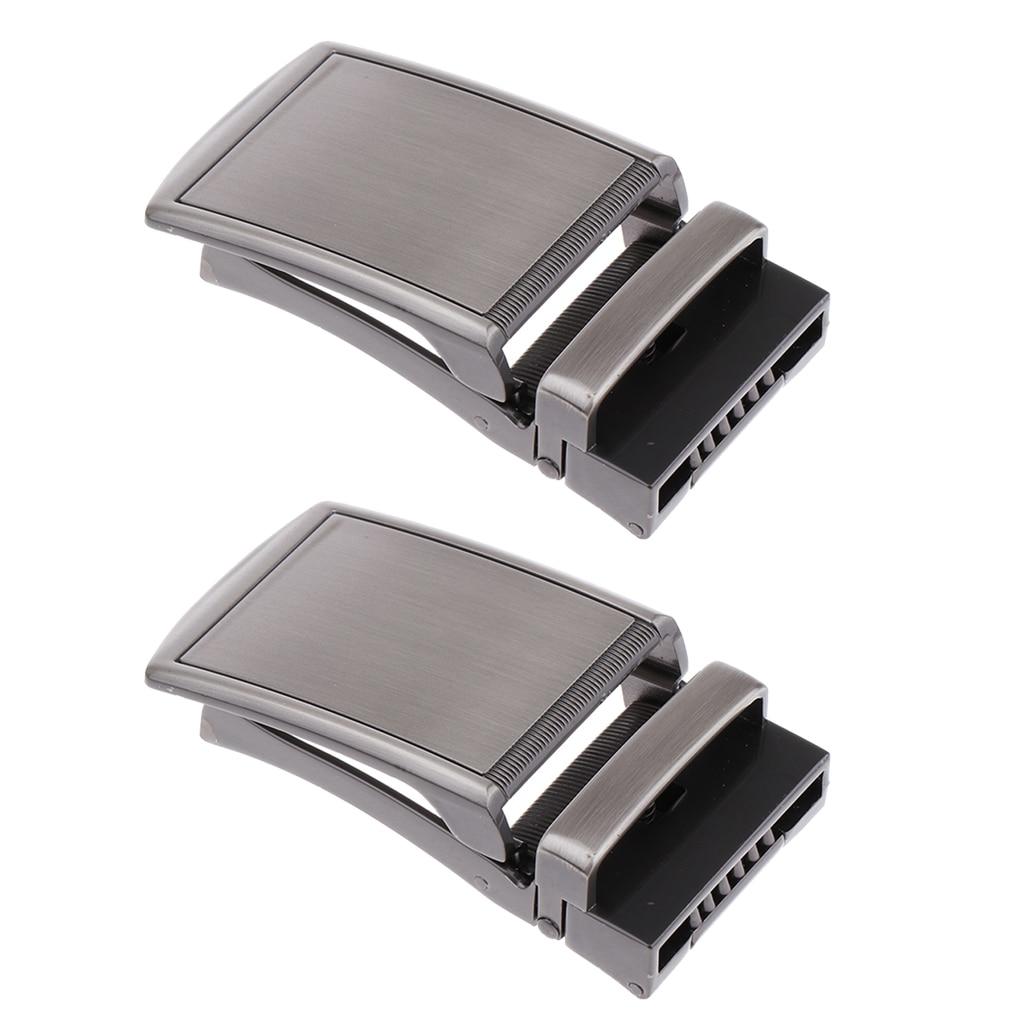 2 Pcs. Automatic Belt Buckle Metal Buckle Buckle For 3.5 Cm Straps