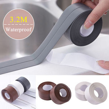 Self Adhesive Kitchen Caulk Strip Tape Waterproof Anti-moisture PVC Sticker Bathroom Wall Corner Line Sink Stickers Wholesale image