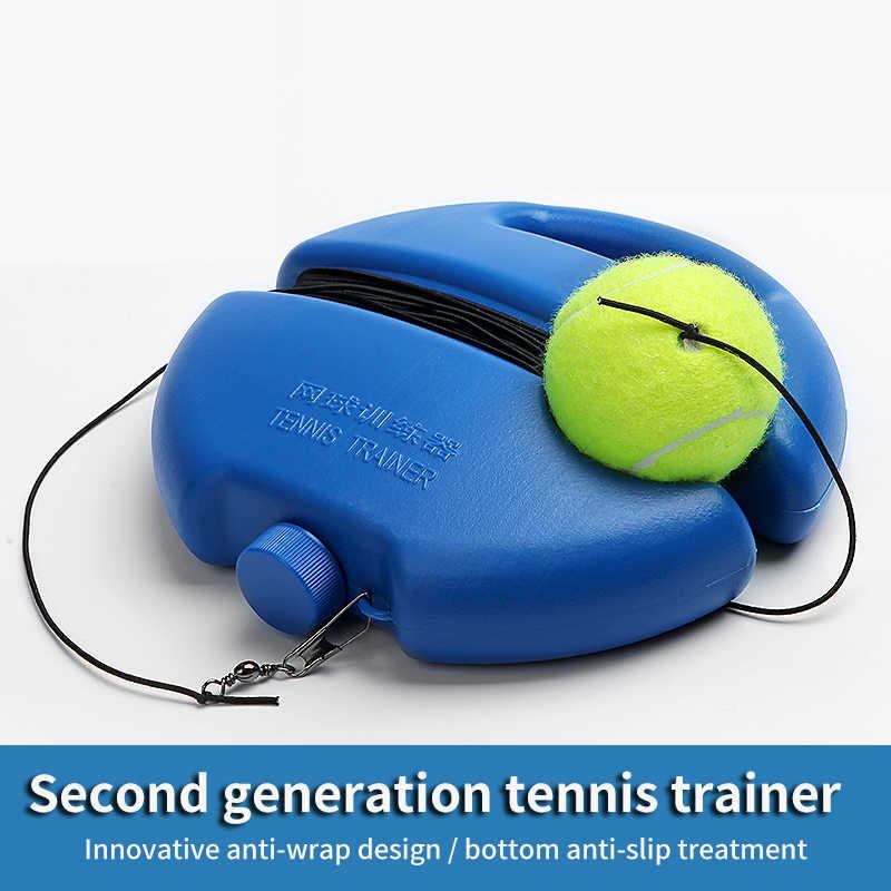Tenis kendinden çalışma cihazı spor kendinden çalışma ribaund topu eğitmen süpürgelik çok işlevli tükenmez egzersiz tenis eğitim aracı