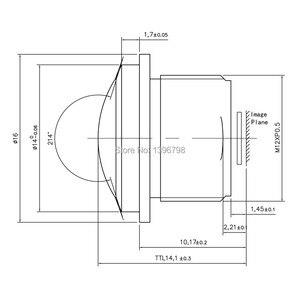 Image 4 - PUAimetis HD 360 fisheye กล้องวงจรปิดเลนส์ 1.5 มม.M12 การเฝ้าระวังวิดีโอกล้อง 1/3/1/2.7 180 มุมกว้างเลนส์กล้องวงจรปิด