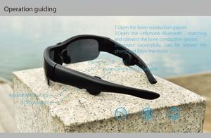 Image 4 - أحدث 6B سماعة رأس بخاصية البلوتوث النظارات الشمسية الموسيقى ميكروفون العظام التوصيل نظارات سماعة مع 3 عدسات ملونة مختلفة هدية