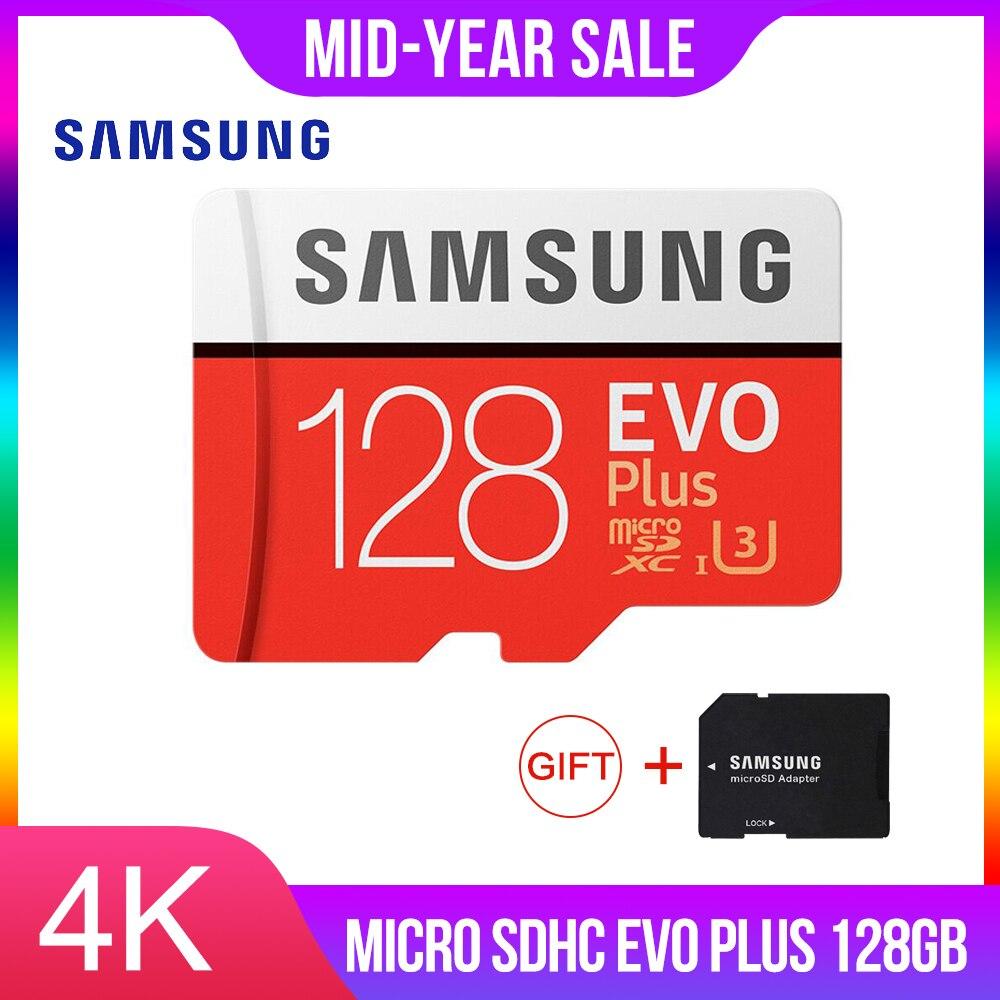 SAMSUNG 128GB Micro SD Memory Card 128GB EVO Plus Class10 Waterproof TF Memoria Sim Card For Smart Phones 128g Original 95MB/s