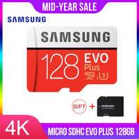 SAMSUNG Micro carte mémoire SD 128 GB EVO Plus Class10 étanche TF Memoria carte Sim pour téléphones intelligents 128g Original 95 mo/s