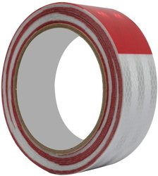Автомобильная красная/белая Светоотражающая безопасная лента, высокояркая светоотражающая лента (2 дюйма x 30 футов)
