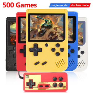 COOLBABY RS-50 Retro Handheld Game Player 3.0 inch TV AV Output Portable Pocket Video Game Console Built-in 500 Classic Games