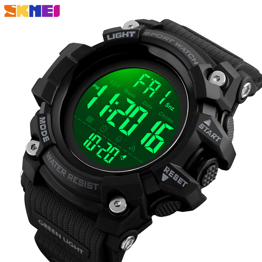 <font><b>SKMEI</b></font> Sports Digital Mens Watches Fashion Countdown LED Electronic Male Clock Waterproof Wristwatches Relogio Masculino image
