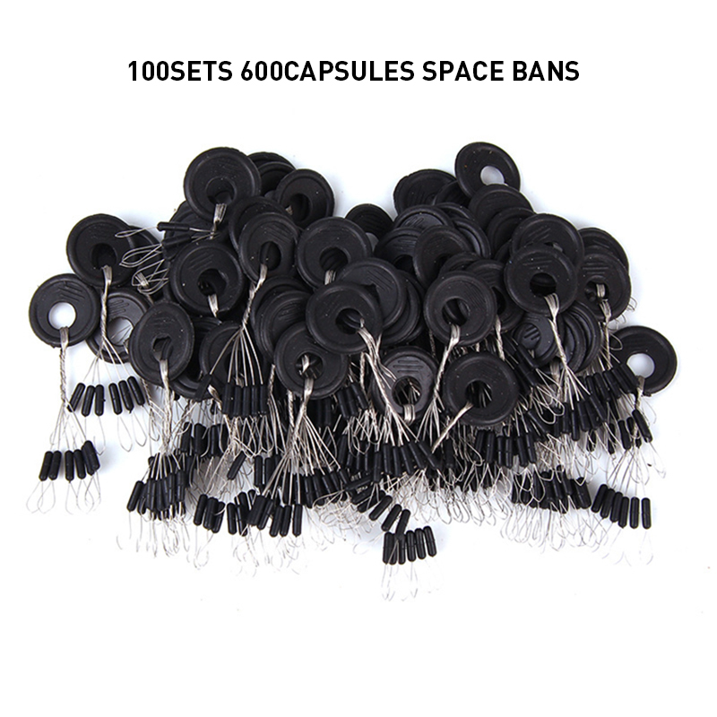 600 Pcs 100 Groups High-quality Rubber Stopper Space Beans Olive Cylindrical Fishing Float Bobber Outdoor Fishing Accessories