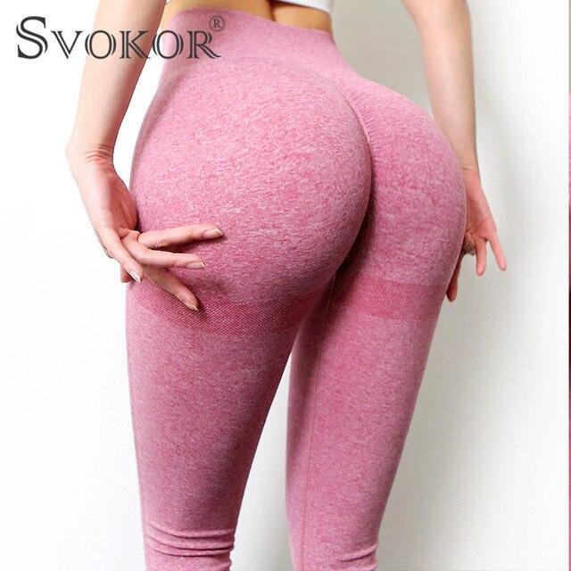 SVOKOR Spring Workout Leggings Women Seamless High Waist Fitness Leggins Female Gym Sexy Perfect Fit Legging Bubble Butt 1